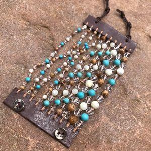 Multi Strand Button Bracelet